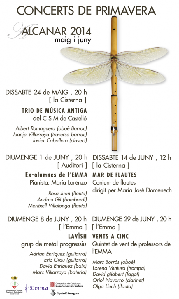 Concerts de primavera - Alcanar, maig i juny 2014
